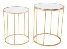 Finita Set Of 2 Nesting Round Tables Gld, 16707