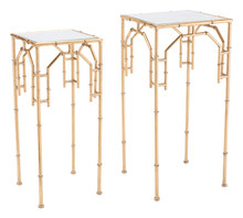 Bamboo Set Of 2 Tables Gold, 16716