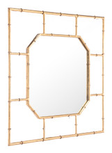 Bamboo Square Mirror Gold, 16720