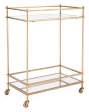 Mirrored Gold Bar Cart Gold, 16732