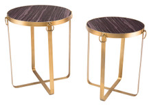 Onix Set Of 2 Tables Purple & Antique Go, 16739