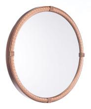 Madi Circle Mirror Brown, 16769