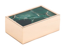 Green Stone Box Sm Green, 16784