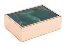 Green Stone Box Lg Green, 16785