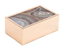 White Stone Box Sm White, 16790