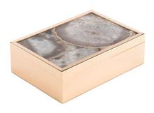White Stone Box Lg White, 16791
