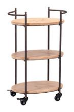 Tri Level Bar Cart Brown, 16817