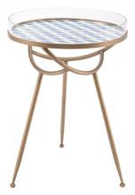 Lattice Round Table Blue, 16827