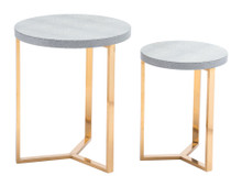 Gela Set of 2 Round Tables Gray, 16882