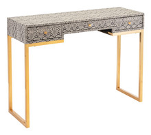 Lecce Snake Skin Console Table White, 16886