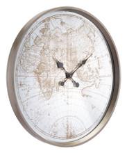 Hora Mundial Clock Antique Silver, 16892