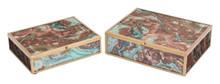 Mundi Set of 2 Boxes Brown Geode, 16894