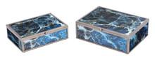 Mundi Set of 2 Boxes Blue Geode, 16895