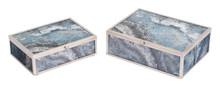 Mundi Set of 2 Boxes Silver Geode, 16896