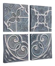 Tiles Set of 4 Wall Decor Blue, 16910