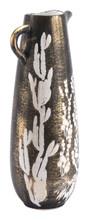 Jaci Large Jar Antique Gold & White, 16923