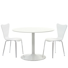 Revolve 3 Piece Dining Set in White
