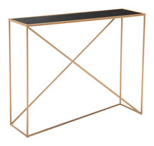 Sixty Console Table Black & Gold, 17003