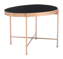 Gotta End Table 2 Black & Gold, 17006