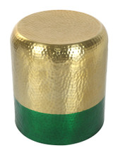 Mia Accent Table Gold  & Green, 17018