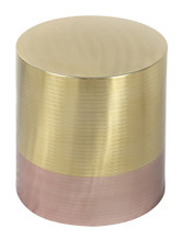 Paloma Accent Table Gold & Rose Gold, 17019