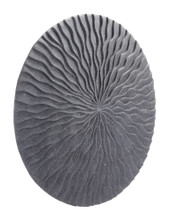 Round Wave Medium Plaque Dark Gray, 17097