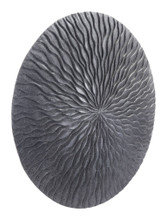 Round Wave Large Plaque Dark Gray, 17098