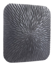 Square Wave Large Plaque Dark Gray, 17100