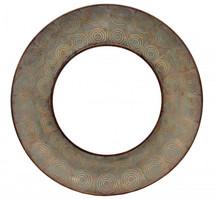 Avila Lg Round Mirror Antique Gold, 17201