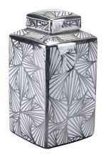 Toledo Lg Jar White & Silver, 17204