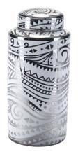 Palma Lg Jar White & Silver, 17205