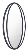 Leo Oval Mirror Black, 17212