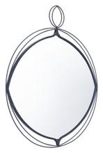 Layla Round Mirror Black, 17217