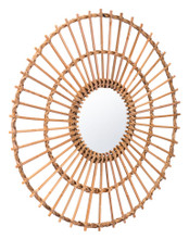 Ronda Round Mirror Brown, 17240
