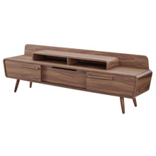 """Omnistand 74"""" TV Stand, Wood, Natural Walnut Brown, 17395"""