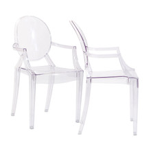 Casper Dining Armchairs Set of 2 in Clear