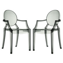 Casper Dining Armchairs Set of 2 in Smoke
