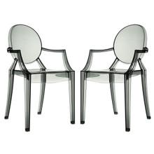 Casper Dining Armchairs Set of 2 in Smoke