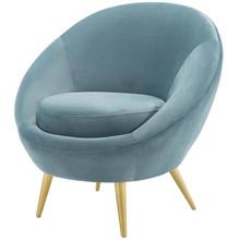 Circuit Performance Velvet Accent Chair, Velvet Fabric Metal Steel, Light Blue, 17425