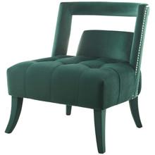 Honor Accent Lounge Performance Velvet Armchair, Velvet Fabric, Green, 17439