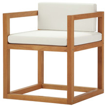 Newbury Accent Outdoor Patio Premium Grade A Teak Wood Armchair, Wood, Natural White, 17814