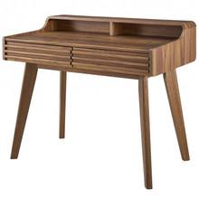 Render Writing Desk, Wood, Natural Walnut Brown, 17991