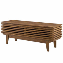 "Render 46"" TV Stand, Wood, Natural Walnut Brown, 17995"
