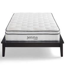 "Jenna 8"" Queen Innerspring Mattress, Fabric, White, 18088"