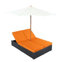 Arrival Chaise in Espresso Orange
