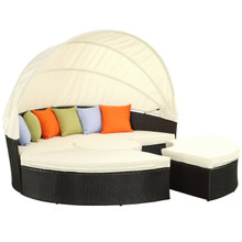 Quest Canopy Daybed in Espresso White
