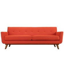 Engage Sofa in Atomic Red