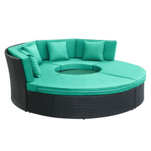 Pursuit Circular Daybed Set in Espresso Turquoise