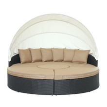 Quest Canopy Daybed in Espresso Mocha