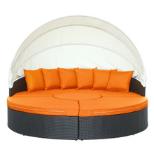 Quest Canopy Daybed in Espresso Orange